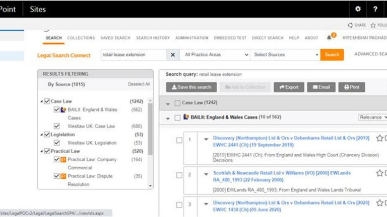 Search through SharePoint