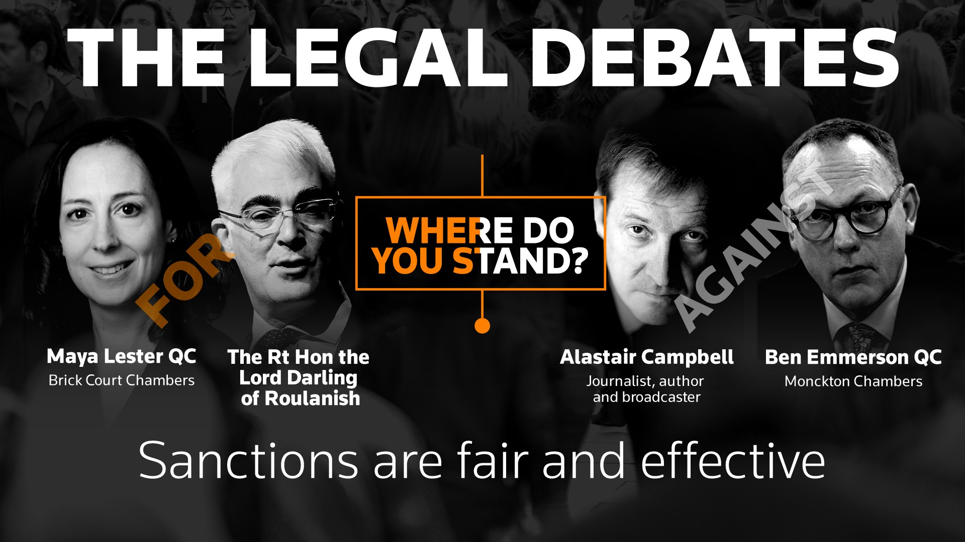 The Legal Debates: Sanctions are fair and effective