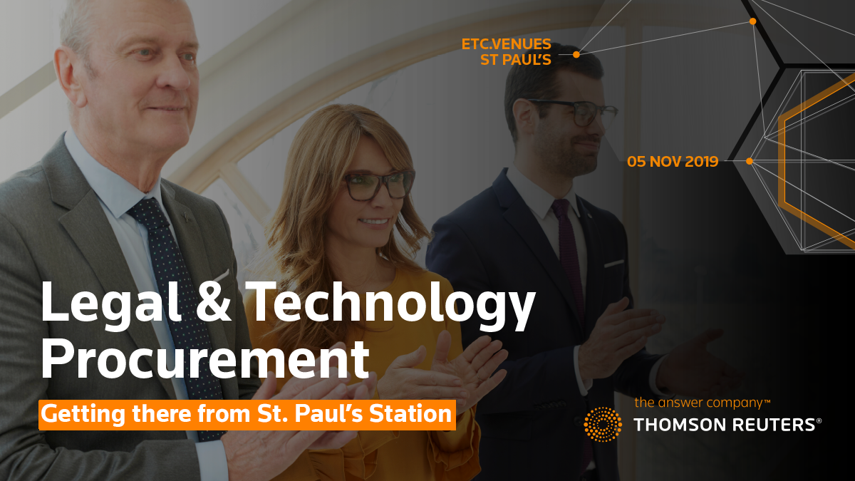 Legal & Technology Procurement Conference: Getting there from St. Pauls Station