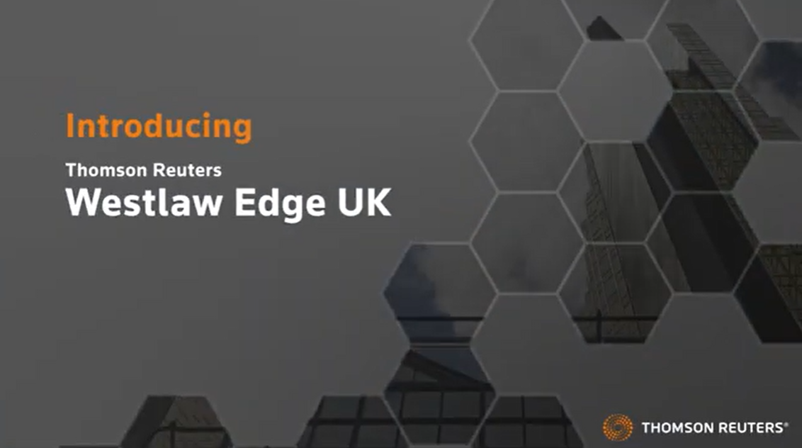 Westlaw Edge UK - video