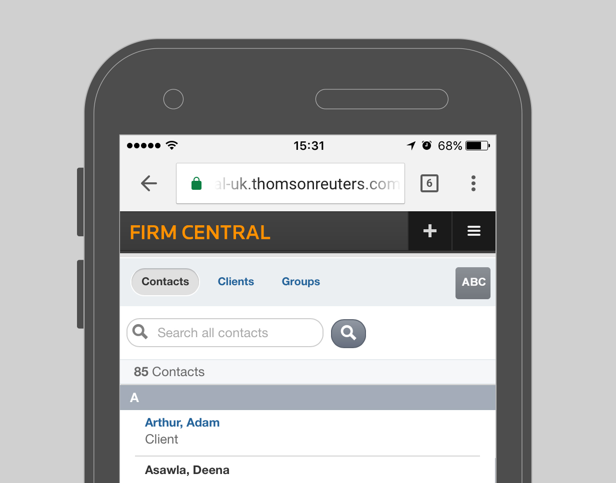 Firm Central - Mobile Capabilities - Contacts
