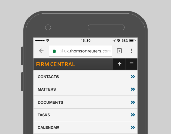 Firm Central - Mobile Capabilities - Homepage