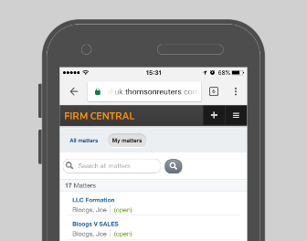 Firm Central - Mobile Capabilities - Matters List