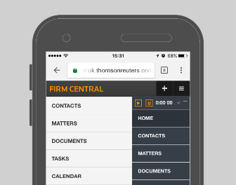 Firm Central - Mobile Capabilities - Timer in menu