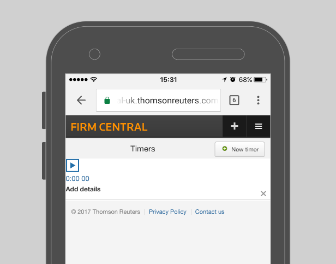 Firm Central - Mobile Capabilities - Timer