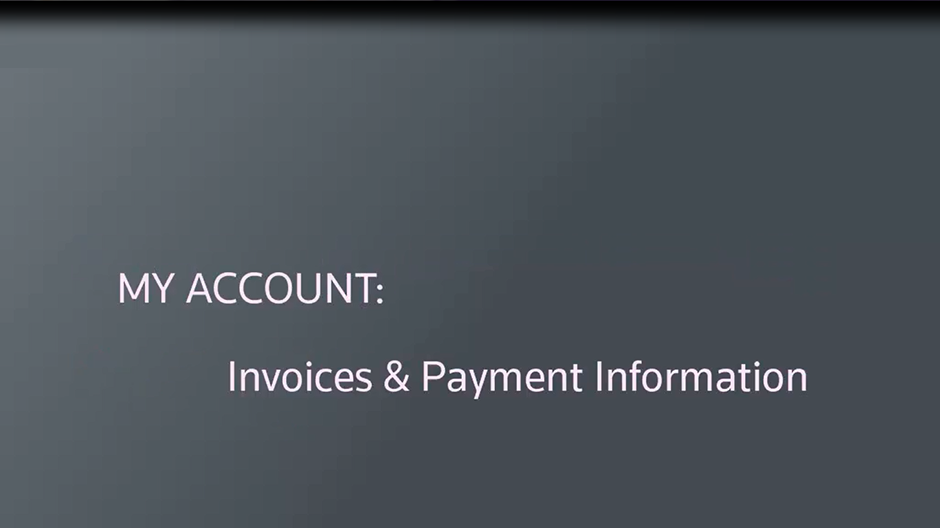 Invoicing using My Account