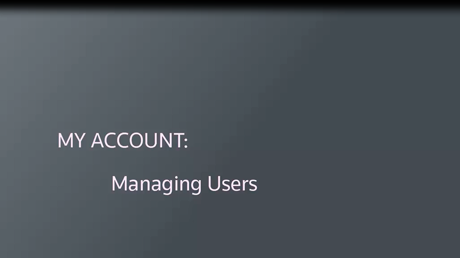 Managing users using My Account
