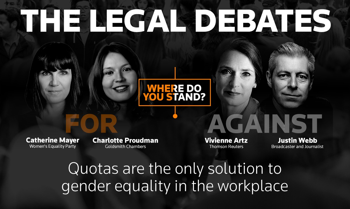 Quotas are the only solution to gender equality in the workplace